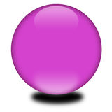 3d purple colored sphere Stock Photo
