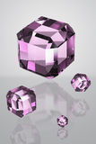 3D Purple Crystal Royalty Free Stock Image