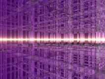 3D Purple Crystal Grid Royalty Free Stock Photos
