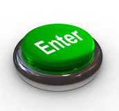 3d push button ENTER. 3d shiny push button with text Enter Stock Photos