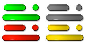 3D push buttons Royalty Free Stock Image