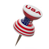 3D pushpin with flag of United States Stock Photo