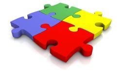 3d puzzel Stock Foto