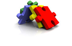 3d puzzel Stock Afbeeldingen