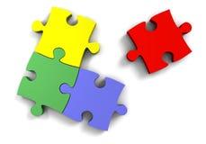 3d puzzel Royalty-vrije Stock Foto