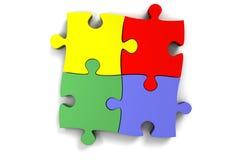 3d puzzel Royalty-vrije Stock Afbeeldingen