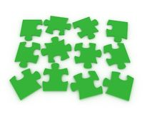 3d puzzle. Over a white background Royalty Free Stock Images