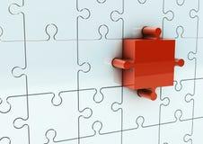3D Puzzle Stock Image