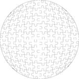 3d puzzle ball 22 Royalty Free Stock Photography