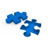 3d puzzle blue white Stock Image