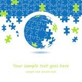 3d puzzle globe design Royalty Free Stock Photos