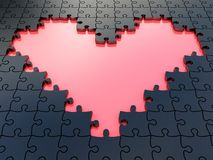 3D puzzle heart with Stock Images