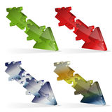 3D Puzzle Jigsaw Arrow Royalty Free Stock Photos