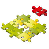 3d puzzle - jigsaw pieces. Jigsaw puzzle: 3d icon  on white Royalty Free Stock Photography