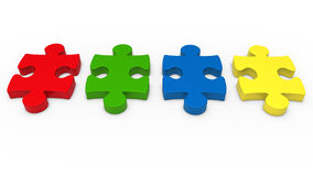 3d puzzle piece. Series red green blue Stock Photos
