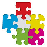 3d puzzle pieces Stock Images