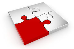 3d puzzle pieces. On white background Stock Photos