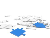 3d puzzle pieces Royalty Free Stock Photos