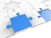 3d puzzle pieces Stock Image