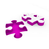 3d puzzle purple white Royalty Free Stock Image