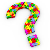 3d puzzle question mark Stock Photo