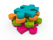 3d puzzle successive Royalty Free Stock Images