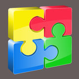 3d puzzle vector Royalty Free Stock Photos