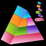 3D Pyramid. Image of a 3D pyramid Stock Photography