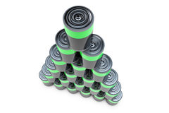 3D pyramid battery Royalty Free Stock Photography