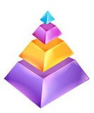 3D Pyramid Chart Stock Images