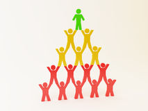 3d pyramid of people Royalty Free Stock Photo
