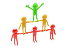 3d pyramid of people Royalty Free Stock Image
