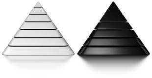3d pyramids Stock Image