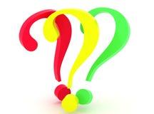 3d pytania Obraz Stock
