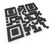 3d qr code (matrix barcode) Royalty Free Stock Images