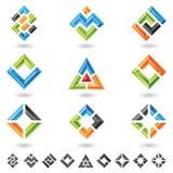 3d quadrados, retângulos, triângulos Imagens de Stock