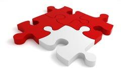 3d - quatre parties de puzzle Photographie stock