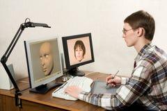 3D que modela proceso Imagen de archivo libre de regalías