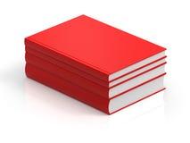 3D que rinde los libros rojos stock de ilustración
