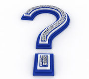 3D question mark. On white background Royalty Free Stock Photography