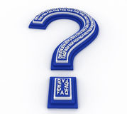 3D question mark Royalty Free Stock Image