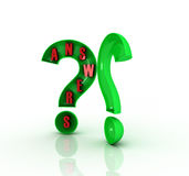 3D question mark. On white background Stock Photo