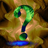 3d question mark. On abstract background royalty free illustration
