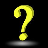 3d question mark Stock Photo