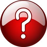 3d question mark. Ready to use for designers and publishers Royalty Free Stock Photos