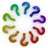 3d question mark circle Stock Image
