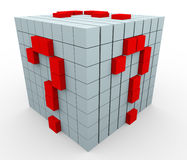 3d question mark cubes Stock Images