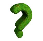 3d question mark in green grass Stock Image