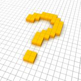 3d question mark icon. In grid. Rendered illustration Royalty Free Stock Photo