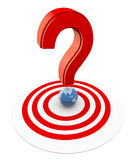 3d question mark on target Royalty Free Stock Image
